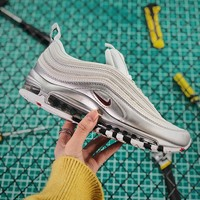 Nike Air Max 97 Qs Metallic Pack Black Silver Sport Running Shoes - Best Online Sale
