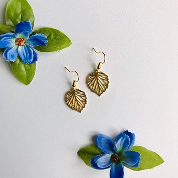 Gold Leaves Drop/ Dangle Earrings