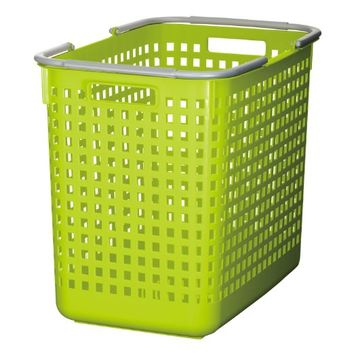 Like-it SCB-5 Plastic Laundry Basket, 15.47-Inch H by 12.20-Inch W by 18.70-Inch D, Green