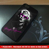 Marilyn Monroe With Glass Eye Pink Signature iPhone Case And Samsung Galaxy Case
