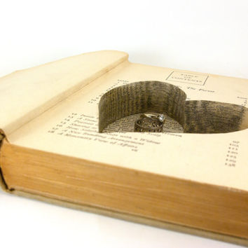 Wedding - Vintage Hollow Book Safe with Heart - The Forest and the Fort - christmasinjuly