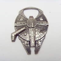 Star Wars Millennium Falcon bottle opener, metal alloy Keychain