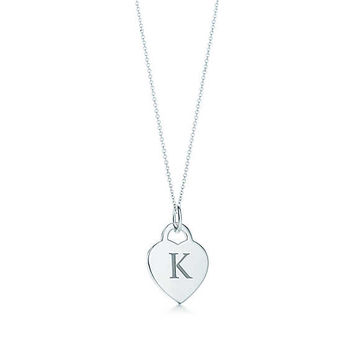Tiffany & Co. - Alphabet heart tag<br>letter charm and chain