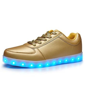 USB charging ghost dance step LED luminous breathable luminous shoes sneakers