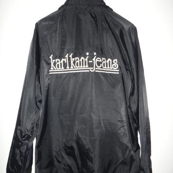 New Year Sale Vintage Karl Kani- Jeans jacket Hip Hop Rap Windbreaker Run Dmc