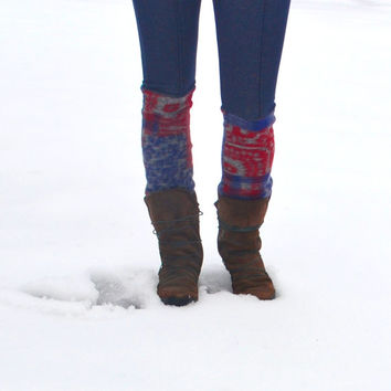 Upcycled Women's Leggings - Tight Leggings - Winter Leggings - Leg Warmers Pants