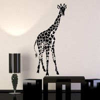 Vinyl Wall Decal Giraffe African Kids Room Zoo Children Decor Stickers Unique Gift (024ig)