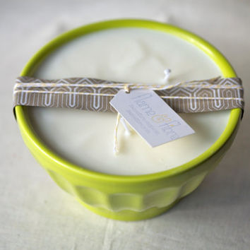 Tropical fragrance soy candle - Chartreuse latte bowl