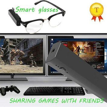 DCCKFS2 16GB Game Status Sharing Smart Glasses to Friends 1080P Live Streaming Smart Glasses to Google Facebook Outdoor Camera Glasses