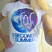 5SOS Five Seconds OF Summer Logo Circle by CandyShopGifts on Etsy