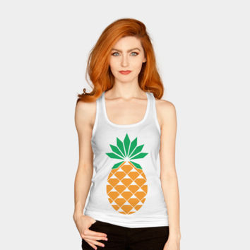 Diamond Pineapple Tank Top By Messing Design By Humans