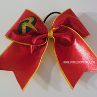 Robin Super Hero Cheer Bow Cheerleading