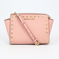 Michael Kors Selma Stud Medium Pale Pink Messenger Bag