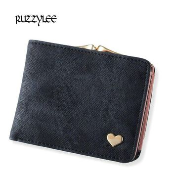 Women Small Clasp Wallet With Multiple Compartments