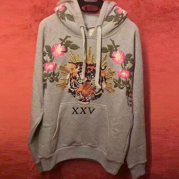 GUCCI Tiger Embroidery Fashion Top Sweater Hoodie