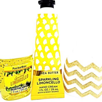 Bath and Body Works Sparkling Limoncello Hand Cream PocketBac & Chevron Holder