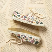 Vintage 1980s Floral Canvas Sneakers