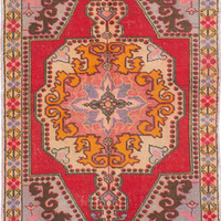 "Hand-knotted Turkish 4'2"" x 6'10"" Anadol Vintage Wool Rug...REDUCED PRICE!"