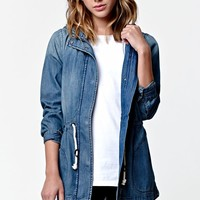 Modern Amusement Vintage Wash Anorak Jacket - Womens Jacket - Blue