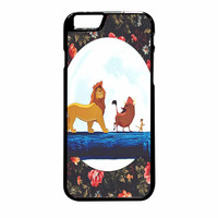 The Lion King Disney Floral iPhone 6 Plus Case