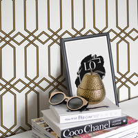 Geometric Removable Wallpaper / Self Adhesive Removable Wallpaper / Geometric Wall Mural /