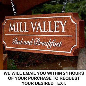 Custom Carved wood sign. Engrave a custom message or your home address!