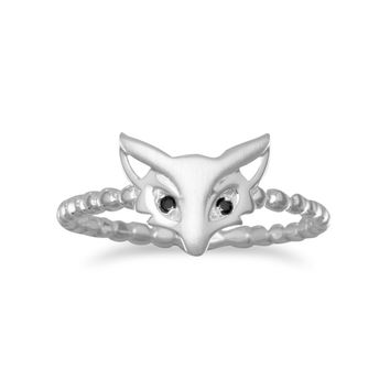 Cute Satin Finish Fox Ring