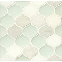 Bedrosians Panache Glass and Stone Mosaic Tile in Silk