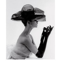 Madame Paulette Net Hat, c.1963 Print by John French at eu.art.com
