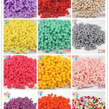 ESBONHS Lucia Crafts 288pcs/lot 10mm Multi option Pompoms Soft Pom Poms balls DIY Wedding Decoration Accessories 22010036