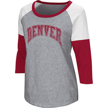 University of Denver Women's 3/4 Sleeve Raglan T-Shirt | University of Denver