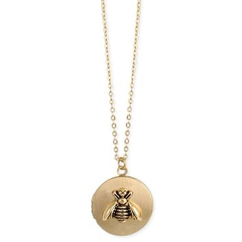All the Buzz Gold Bee Locket Necklace