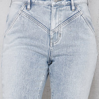 PacSun Clash Blue V-Yoke Mom Jeans at PacSun.com