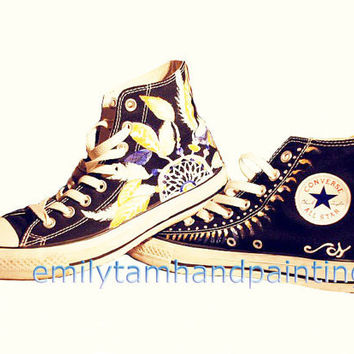Dreamcatcher Converse Sneakers-Dream Catcher Inspired Customizing Converse Shoes