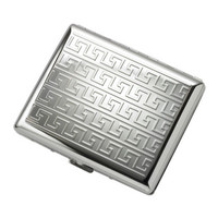 MG Gifts Double-Sided Silver Maze Cigarette Case For 20 Of 100
