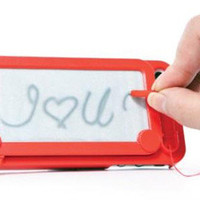 New Cool Etch-a-Sketch Magic Drawing Case with drawing pen For iphone 5 5S 5G