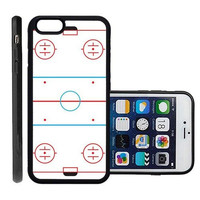 RCGrafix Brand Ice Hockey Rink Apple Iphone 6 Plus Protective Cell Phone Case Cover - Fits Apple Iphone 6 Plus