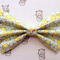 Pokemon Pikachu Cute Kawaii Inspired Hair Bow or Bow Tie