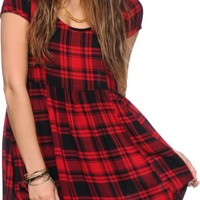 Empyre Vicki Plaid Babydoll Dress