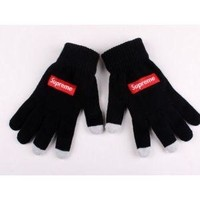 Supreme winter gloves touch screen media touch