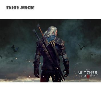 Unframed Witcher Modern Canvas Printed Game Poster The Witcher Home decor Painting For Living Room Wall Art Pictures Artwork