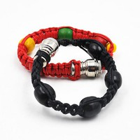 New arrival  Portable Metal Bracelet Smoke Smoking Pipe Jamaica Rasta Weed Pipe 3 Colors Gift for both man and women