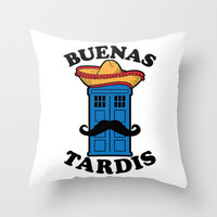 Buenas Tardis Throw Pillow by LookHUMAN