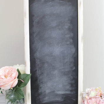 Blank Chalkboard Sign - Wedding Menu - Seating Chart - Rustic Weddings - (CFE-8)