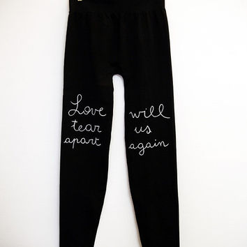 Love will tear us apart again - Black/Grey leggings