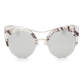 Marble Mirror Sunglasses