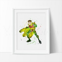 Robin Watercolor Art Print