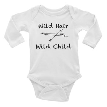 Wild Hair Wild Child Infant long sleeve one-piece