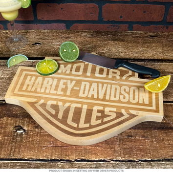 Harley-Davidson Bar and Shield Wood Cutting Board