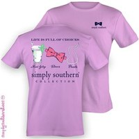 Simply Southern Preppy Collection Julep and Bow Tie T-Shirt in Orchid